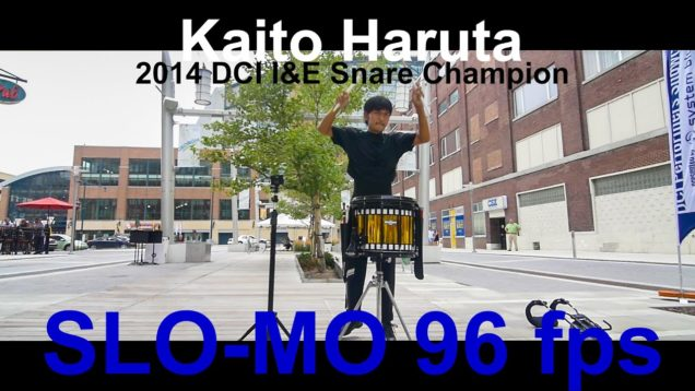 Kaito-Haruta-2014-DCI-IE-Snare-Champion-in-SLO-MO-96-fps