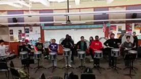 Garfield-High-School-Drumline-Rehearsal-Accent-Tap