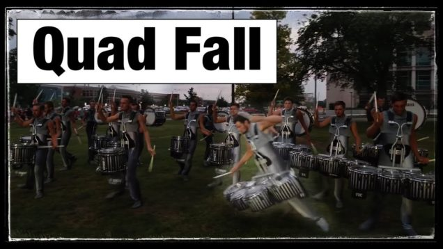 Drumline-Fail-Crown-Quad-Drummer-Falls-in-the-lot.