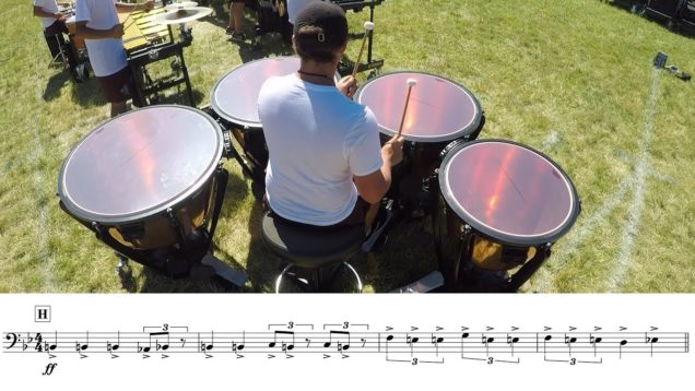 2018-Madison-Scouts-Timpani-LEARN-THE-MUSIC-to-Racing-Heart