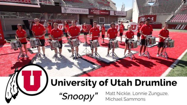 Learn-the-Music-University-of-Utah-Drumline-Snares-Snoopy