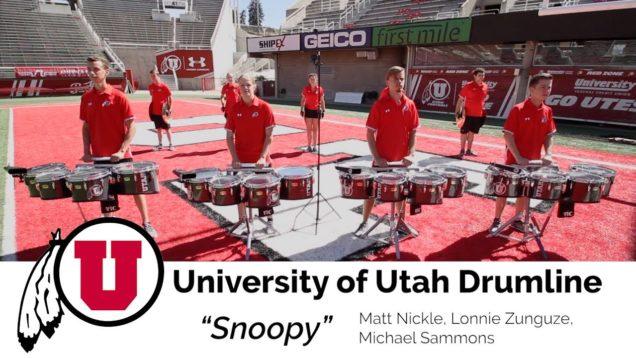 Learn-the-Music-University-of-Utah-Drumline-Tenors-Snoopy
