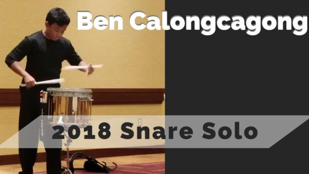 Ben-Calongcagong-Snare-Solo-IE-2018-14th-Place