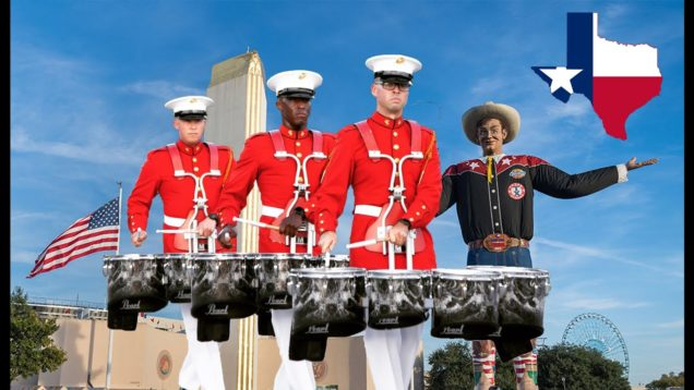 A-Day-with-the-USMC-Drum-Corps-Texas-State-Fair-EMC-Vlog