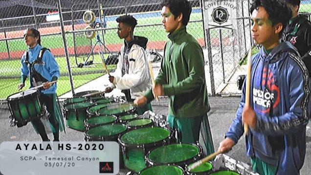 Ayala-HS-Drumline-2020-Warm-Up-1