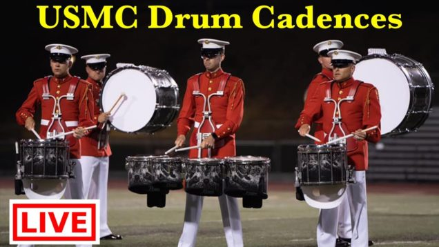 LIVE-Marines-Drum-Cadences-split-screen-DigitalDrumlineProject