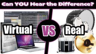 VIRTUAL-Drumline-vs-REAL-Drumline