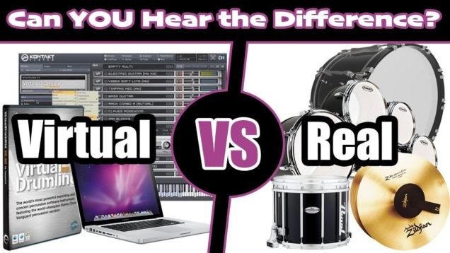 VIRTUAL-Drumline-vs-REAL-Drumline