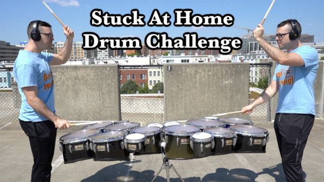 A-Drum-Battle-Against-Myself-StuckAtHomeDrumChallenge-COOP3RDRUMM3R-and-Sweetwater