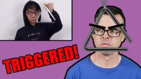Professional-Triangle-Player-reacts-to-TwoSetViolin-Triangle-vs-Violin-TriangleGang-responds