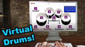 Virtual-Drumming-Contest-tap-your-keyboard-to-play-along-EMCvirtual