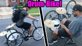 We-turned-a-BICYCLE-into-a-DRUM-SET-and-rodejammed-in-my-neighborhood
