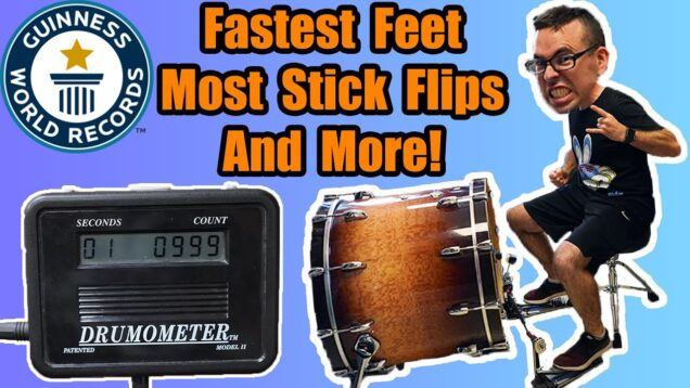 I-Attempt-9-MORE-Guinness-World-Records-Fastest-Bass-Drum-Most-Stick-Flips-and-More