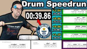 DRUMS-Speedrun-World-Record-All-40-Rudiments-in-39.86s-Davie504-Response