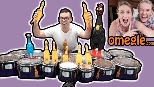 Drum-Solo-or-Chicken-Solo-Omegle-Girls-Decide…