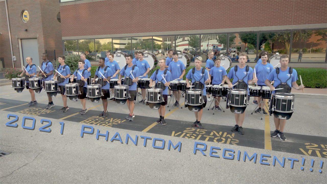 2021-Phantom-Regiment-Drumline-Evansville-IN-warmup