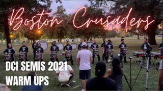 Boston-Crusaders-Drumline-2021-DCI-Semis-Warm-Ups