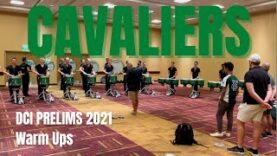 Cavaliers-Drumline-2021-DCI-Prelims-Warm-Ups