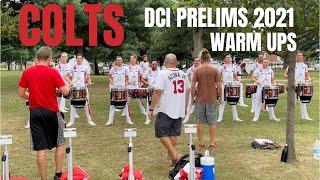 Colts-Drumline-2021-DCI-Prelims-Warm-Ups